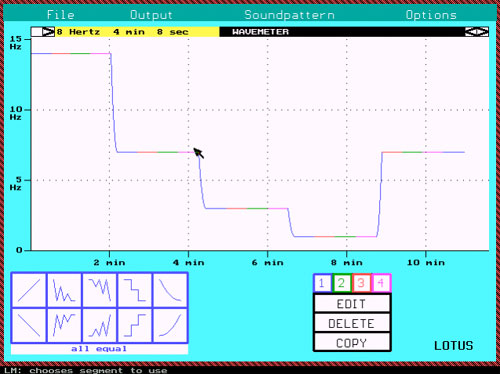 Brainwave Lotus Software - Passive screen